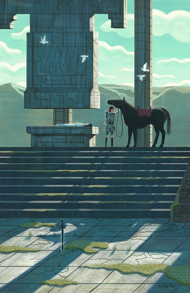 """pixalry: """"Shadow of the Colossus: Wander - Created by Daniel Shaffer Prints available for sale at the artist's shop. """""""