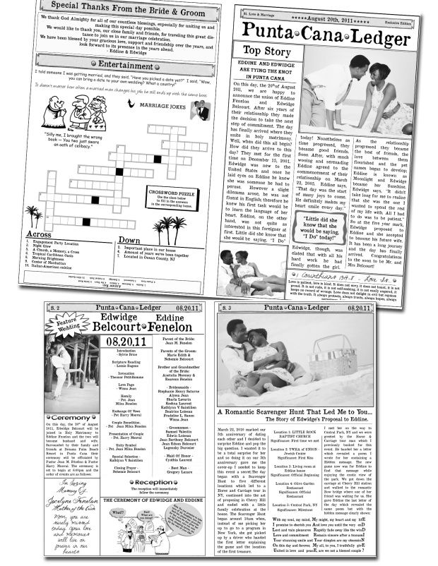 Best Mini Newspaper Wedding Program Images On