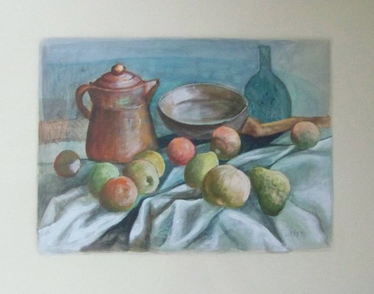 """#DiegoVoci™ - Still Life owned by Christine Khan who today communicates regularly with HELGA VOCI in Taunusstein (17"""" x 20"""")."""