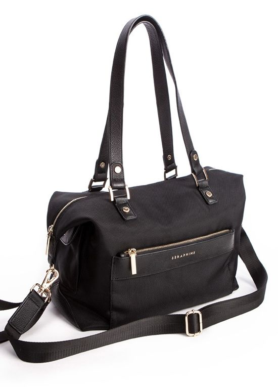 Queen Bee Oxford Canvas and Leather Changing Bag by Seraphine