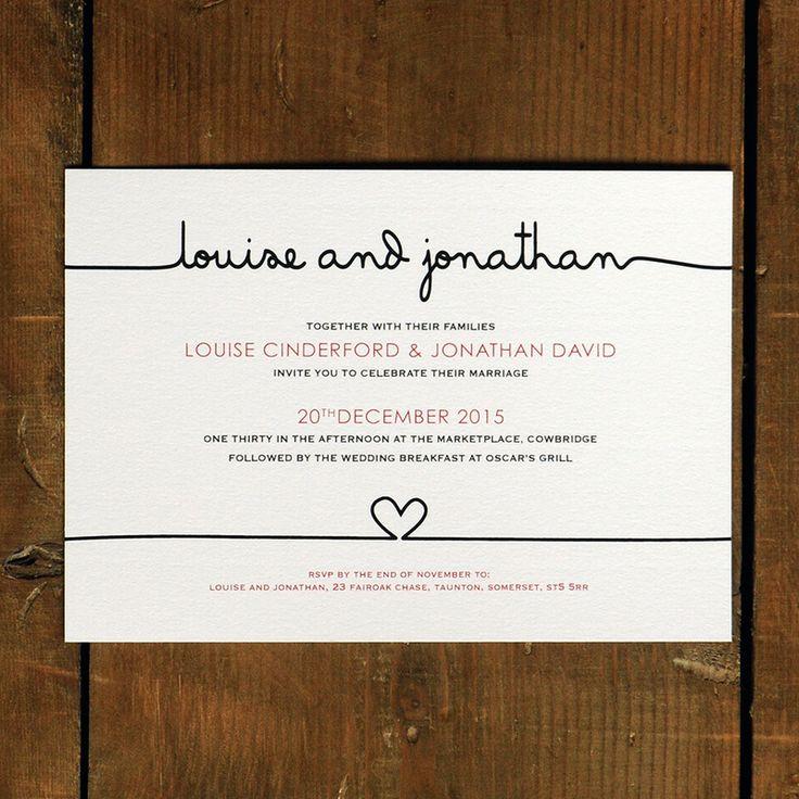 Scribble Wedding Invitation Day Evening RSVP