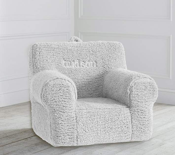 Pottery Barn Kids Gray Cozy Sherpa Anywhere Chair Slipcovers For