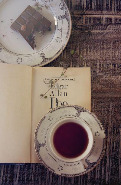 livre detente bonheur chocolat femme dimanche thé automne