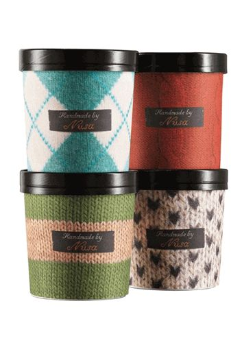 Winter Collection packaging: Special winter soups with promotional heat resistant cardboard sleeves that slotted onto the existing cups. Lovely for the reusable purpose.