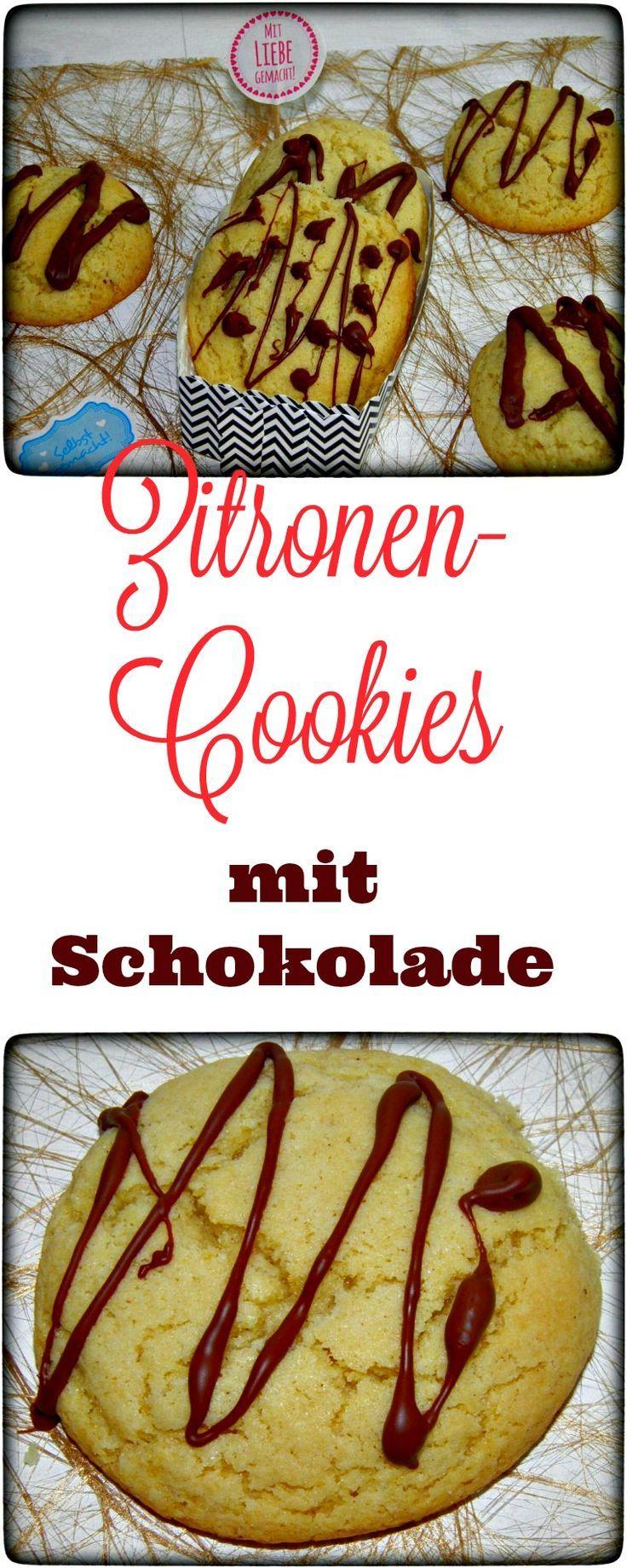 Leckere Zitronen-Cookies mit Schokolade. Yummie. Denen kann keiner widerstehen. Sowohl im Thermomix, als auch mit der Küchenmaschine sehr schnell hergestellt.