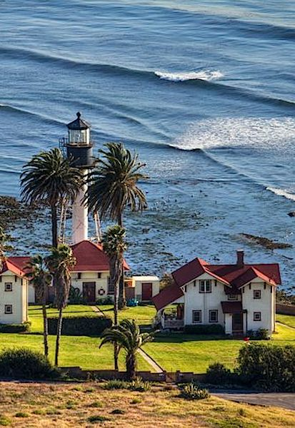 """New Point Loma Lighthouse, San Diego, California: The """"new"""" lighthouse was first lit in 1891."""
