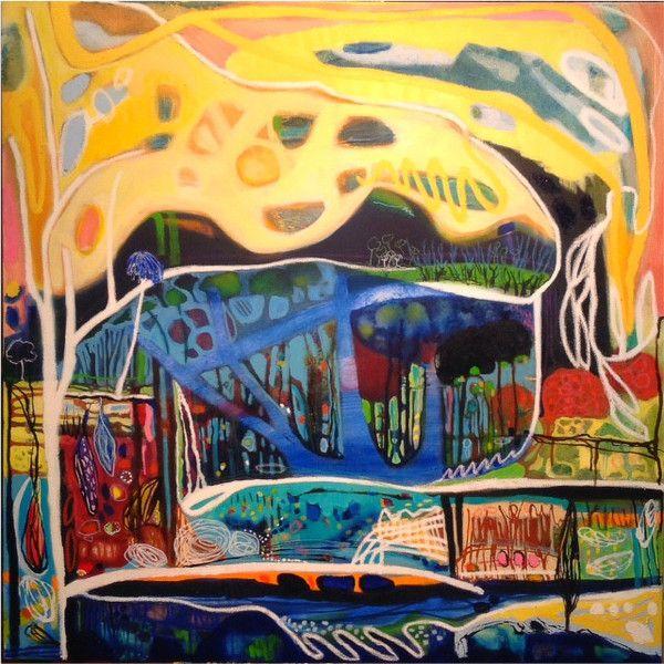 Beneath a Yellow Arching Sky | lisa morgan art