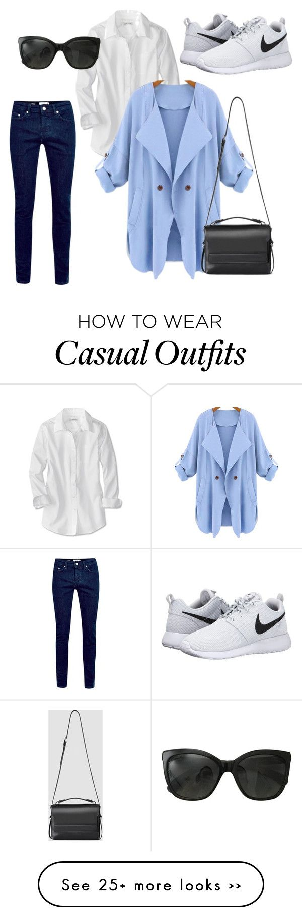 """Casual"" by granaci95v on Polyvore featuring mode, NIKE, Chanel en AllSaints"