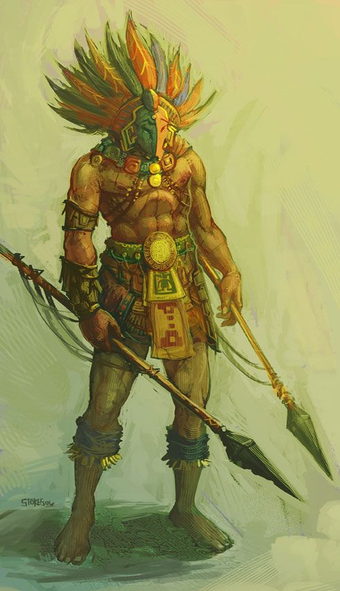 Aztec Warrior from Guild Wars: Eye of the North