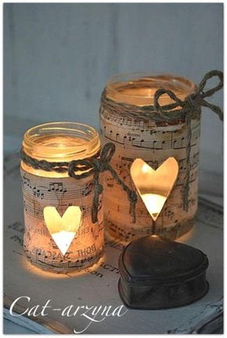 Nice 88 Creative Mason Jars Christmas Decoration Ideas for Your Home. More at http://88homedecor.com/2017/11/07/88-creative-mason-jars-christmas-decoration-ideas-home/