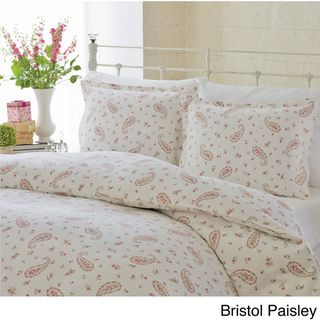Laura Ashley Flannel 3-Piece Duvet Cover Set | Overstock™ Shopping - Great Deals on Laura Ashley Duvet Covers