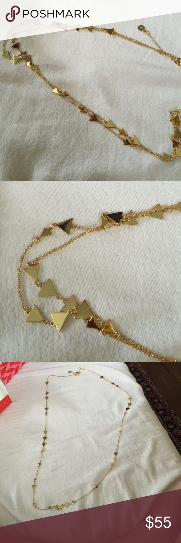 Long gold Stella and Dot Necklace Long gold necklace Stella & Dot Jewelry Necklaces