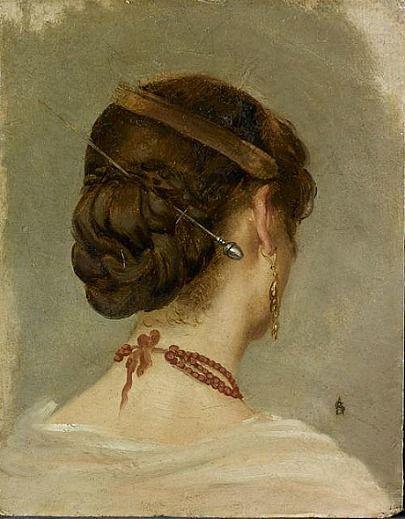 Alfred Émile Léopold Stevens 'Head of woman' (1870-75)