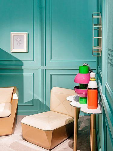 festa mobile pots and jars, #design by Elena Cutolo for #altreforme A Moveable Feast #stand @iSaloni 2014 #paris #anni20 #roaringtwenties #designweek #interior #home #decor #homedecor #furniture with #woweffect #aluminium