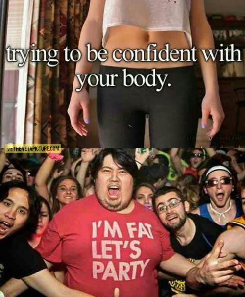 Trying to be confident with your body…