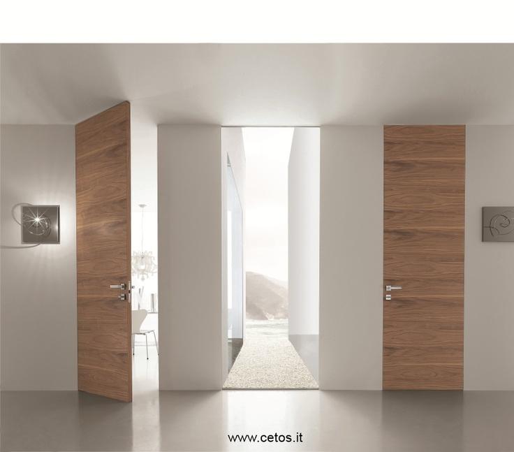 Porte interne a filo muro finitura noce canaletto porte - Porte interne a filo muro ...