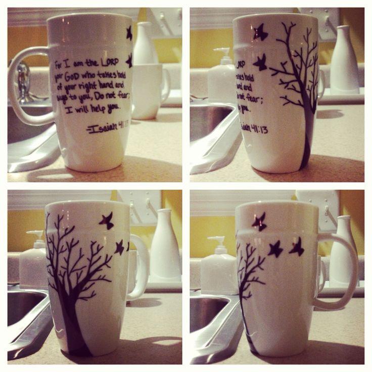 Diy Sharpie Mug Idea Kiddo Art Craft Pinterest