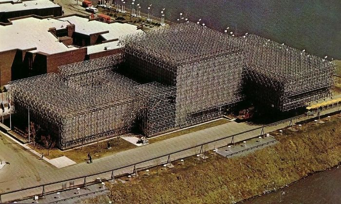 The Netherlands Pavilion at Expo 67, Montreal, Quebec, Canada, 1967.