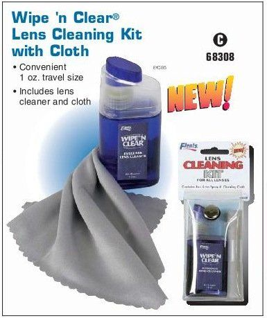 #vision Crystal Clear Eyeglass Lenses #Flents Wipe 'n Clear Lens Cleaning Kit with Cloth is a handy item that fits in your handbag or purse easily. It takes quit...