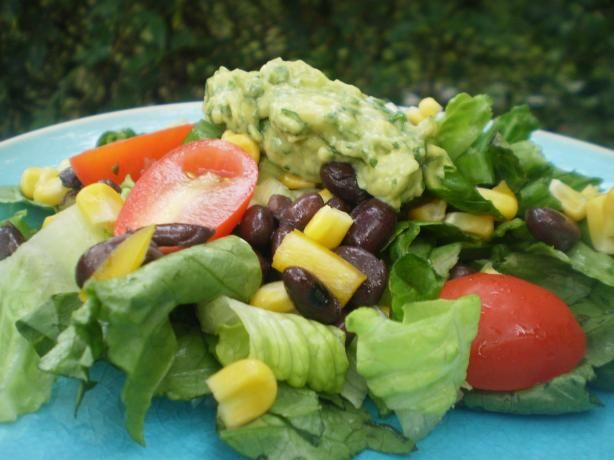 Southwestern Chopped Salad With Cilantro Dressing (try adding jalapeno or cayenne pepper to dressing for extra kick)