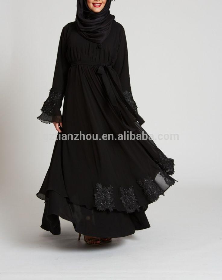 Guangzhou wholesale clothing OEM kebaya muslim hijab style islamic clothing abaya online Embroidered detailing Empress Abaya