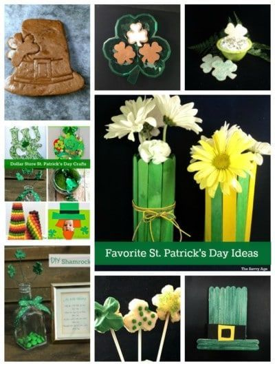 Favorite St. Patrick's Day Ideas for kids and adults! Easy St. Patrick's Day rec…
