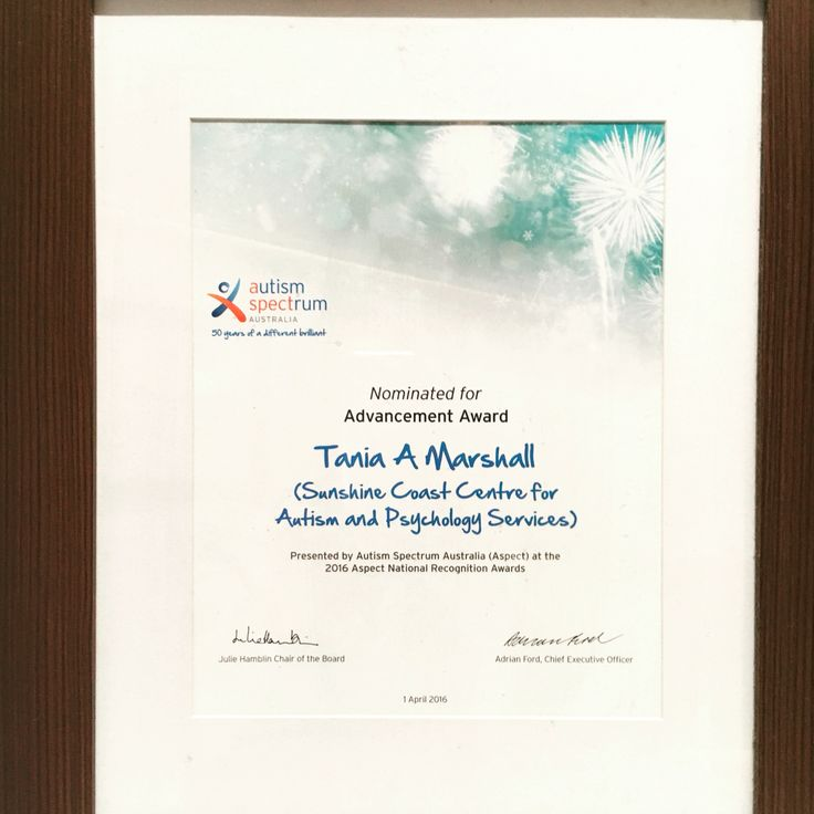 Thank you to Aspect Autism Australia for my 2016 National recognition nomination award for my work in advancing the field of females and Autism. #autism #aspergers #females #aspect #2016nationalrecognitionaward #nomorefemalesleftbehind www.aspiengirl.com www.taniamarshall.com