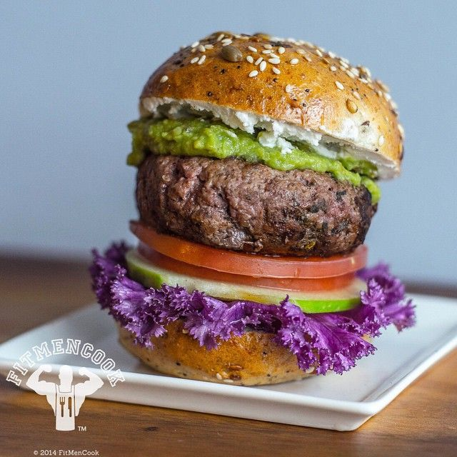 Double-tap if you love burgers! #Postworkout meal: lean ground bison burger, 1 tbsp goat cheese, 1.5 tbsp guacamole, tomato, apple & purple kale on whole grain flax seed bun. I sometimes like to add a hint of sweetness to savory dishes, so when possible, I'll use the natural sugars and flavors in fresh fruit. You'd be surprised how small tweaks can liven any dish. Why bison? I like using wild game because it is often leaner, their diet is mostly grass-fed and there is often a higher…
