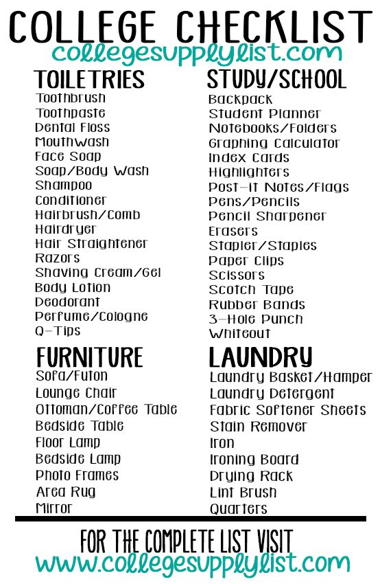 25+ Best College Packing Checklist Ideas On Pinterest | College