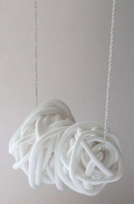 nest necklace (made of polymer clay) by mariana and hazel