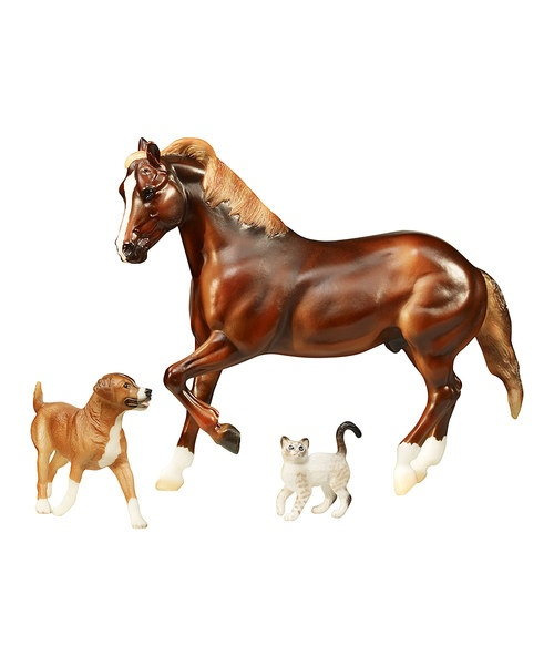 For the love of our four-legged friends, Breyer donates 10% of the proceeds from the sale of this darling set to ASPCA programs.Includes horse, dog and cat4.63'' W x 10'' H x 11.75'' LCellulose acetateRecommended for ages 8 years and upImported...
