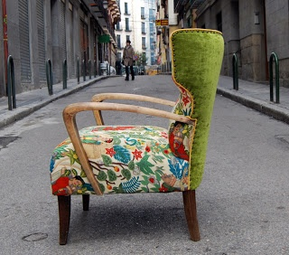 in love with this chair! frida's garden Alexander Henry fabric
