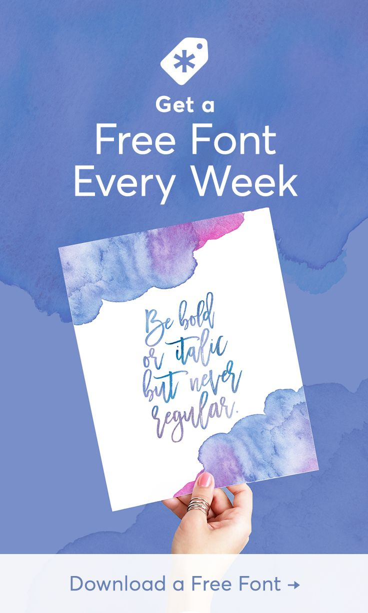 Get six design assets, including at least one font, totally free on Creative Market every week. Download this week's set today!