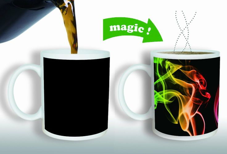 Heat Sensitive Color Changing Coffee Mug