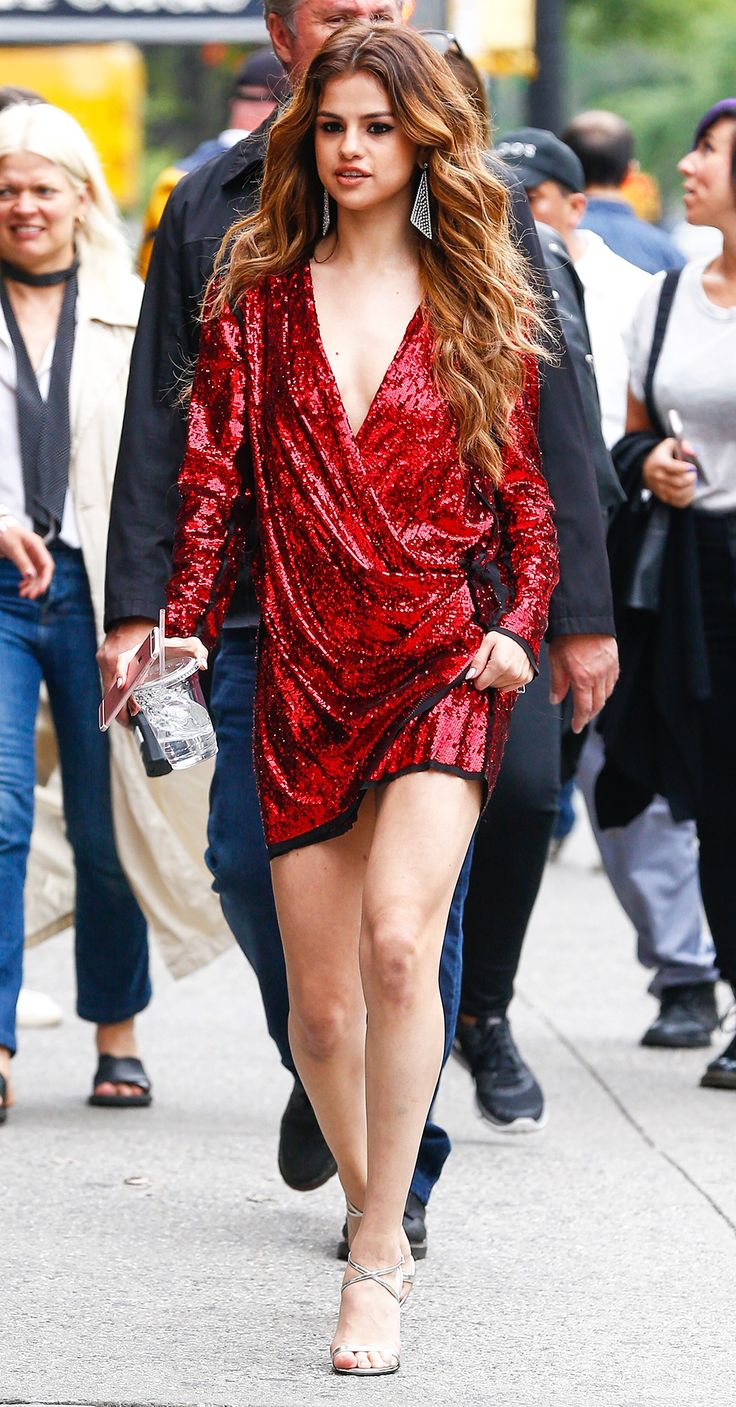 Selena Gomez Is a Knockout in 2 Stunning Red Dresses in N.Y.C. from InStyle.com