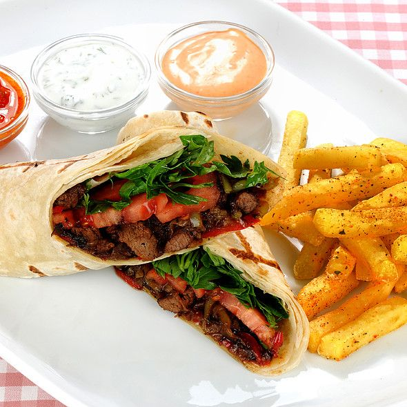 Beef Wrap @ Cafe Mese
