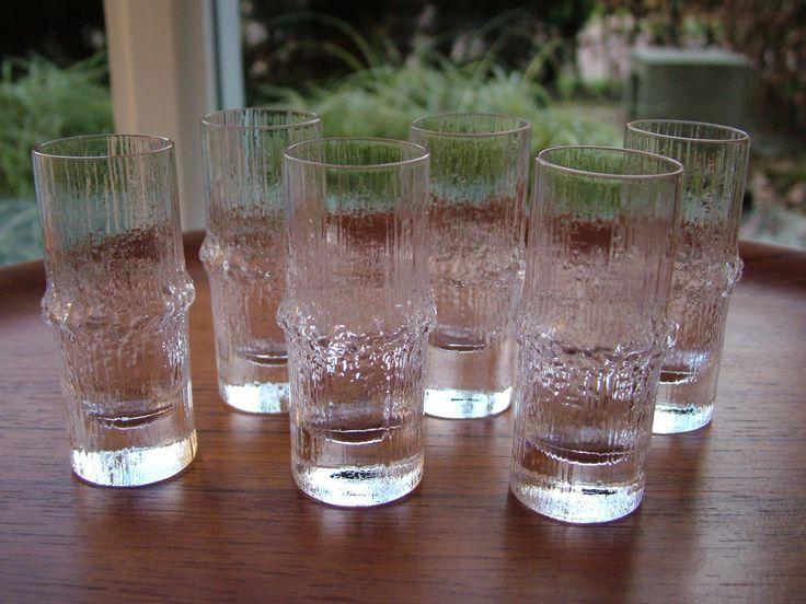 Iittala Finland NIVA Tapio Wirkkala 6 shot glasses