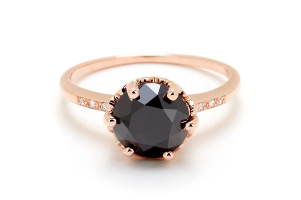 Black diamond in rose gold - love