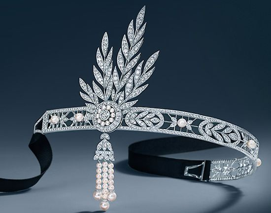 Savoy Headpiece with Detachable Brooch from The Great Gatsby Collection,Tiffany & Co.