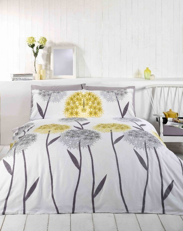 8 best yellow and grey bedroom images on Pinterest | Bedrooms ...