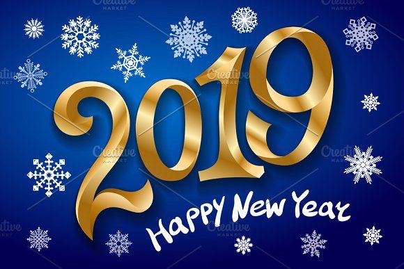 Christmas New Year 2019 Greeting cards