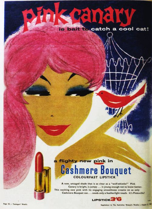 Pink Canary lipstick, 1960