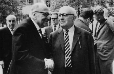 The Who, What and Why of the Frankfurt School: Max Horkheimer and Theodor Adorno in 1964.