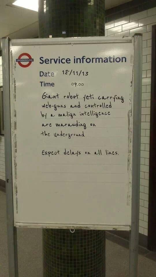 Robert Dick on British HumorLondon UndergroundBeing