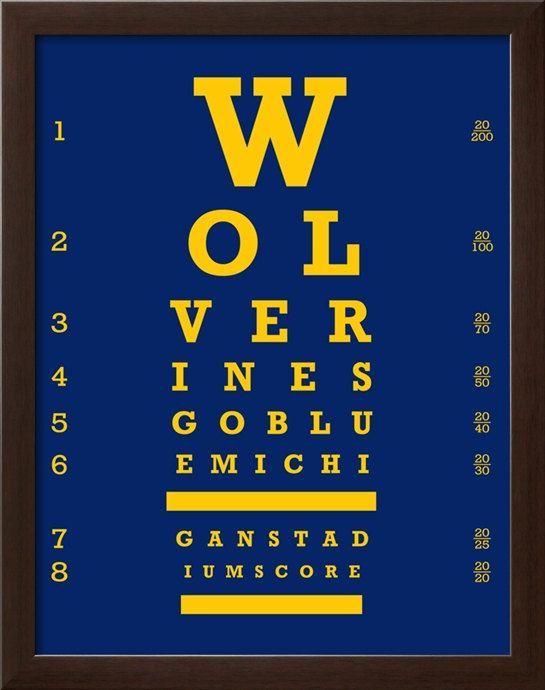 You don't need to have 20/20 vision to see our Wolverine Pride!