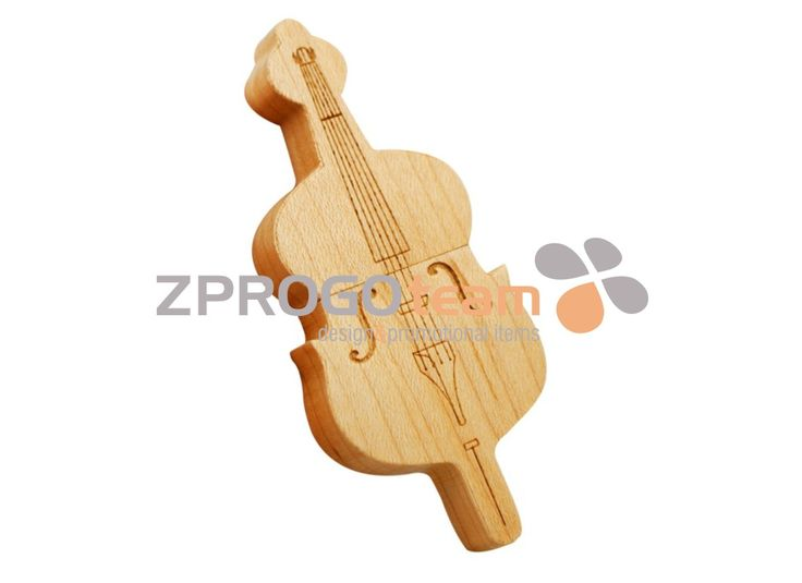 NEW: Promotional wooden USB flash drive design viol.