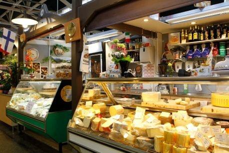 Pikku Veneto cheese deli at Kuopio Market Hall.