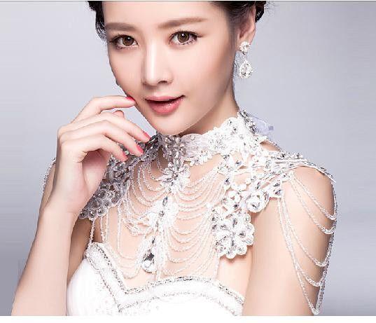 Свадьба ювелирные изделия плечевой ремень свадебные ожерелье стразы кристалл ручной работы кисточка бусины ювелирные изделия купить на AliExpress