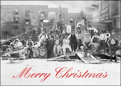 151 best black white ziti cards images on pinterest building gather up your client list and send them these contractor holiday cards featuring a construction crew business holiday cardsclassic stylechristmas reheart Images
