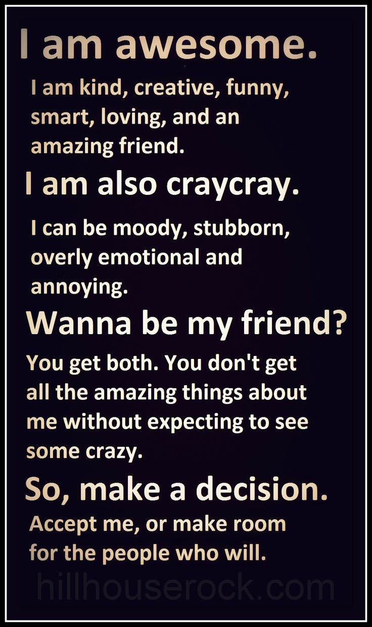 am awesome. I am also craycray. #Friendship #AboutMe #Relationships ...